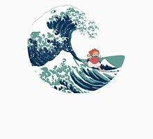 Ponyo and The Great Wave off Kanagawa - Moderne T-Shirt