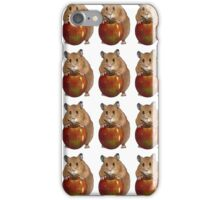 Hamster with Big Red Apple, Original Illustration iPhone Case/Skin