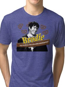 Brodie's Chocolate Covered Pretzels Tri-blend T-Shirt