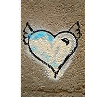 Grafitti winged heart Photographic Print