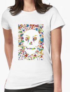 Splatter Skull Womens Fitted T-Shirt