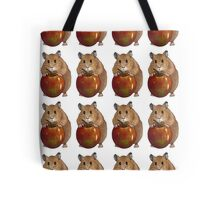 Hamster with Big Red Apple, Original Illustration Tote Bag