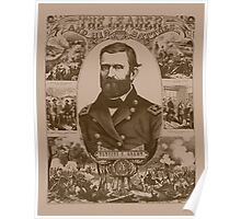 General Grant - The Leader And His Battles Poster