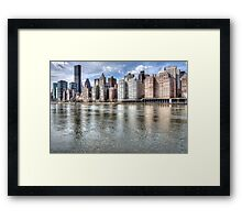 East River Manhattan Framed Print
