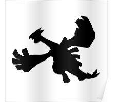 Lugia silhouette Poster