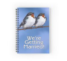 We're Getting Married, Wedding Announcement, Birds Spiral Notebook