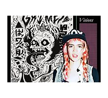 Grimes w/ visions cover Photographic Print