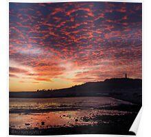 Scrabo Sunset Poster