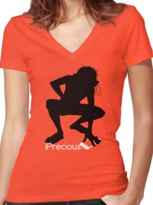 Gollum Precious Silhouette  Iphone T-shirt Women's Fitted V-Neck T-Shirt