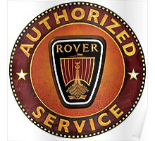 Rover Cars Authorized service. Poster