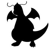 Dragonite silhouette Photographic Print