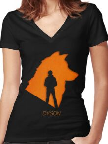 Dyson The wolf shifter - Lost Girl Women's Fitted V-Neck T-Shirt