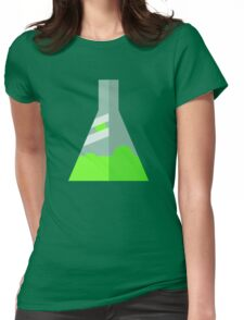 Conical Flask Pattern Womens Fitted T-Shirt