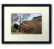 Honey Run Bridge - Paradise Framed Print