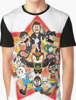 Vanoss and Crew 1930's cartoon style Graphic T-Shirt