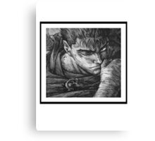 Berserk Guts Blk and Wht Canvas Print