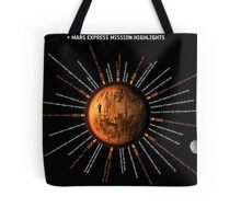 Mars Express Timeline Infographic Tote Bag