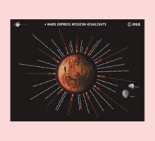 Mars Express Timeline Infographic Kids Tee