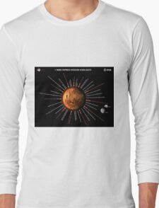 Mars Express Timeline Infographic Long Sleeve T-Shirt