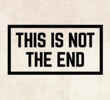 this is not the end watercolour  Sticker