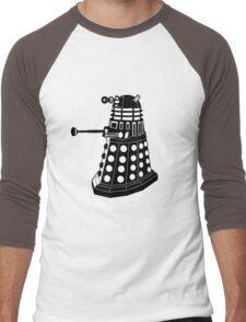Dalek (Black & White) Men's Baseball ¾ T-Shirt