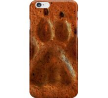 """Terracotta Paw Print"" by Carter L. Shepard""  iPhone Case/Skin"