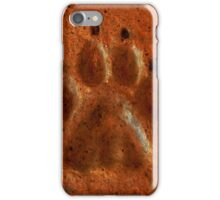 """Terracotta Paw Print"" by Carter L. Shepard""  iPhone Case/Skin"