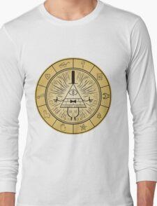 Gravity Falls Bill Cipher Wheel Long Sleeve T-Shirt