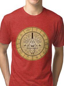 Gravity Falls Bill Cipher Wheel Tri-blend T-Shirt