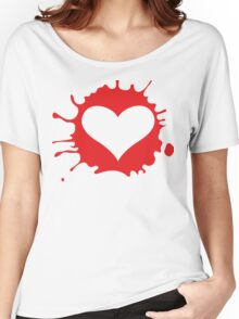 Heart with blood splashes Women's Relaxed Fit T-Shirt
