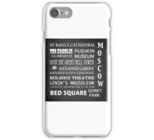 Moscow Famous Landmarks iPhone Case/Skin