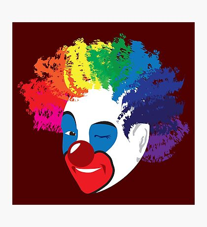 Clowns: Do the Carpets Match the Drapes Photographic Print