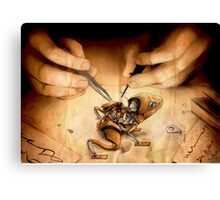 frog machine Canvas Print