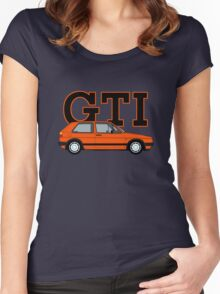Golf MK2 GTI (Small Bumper, Mars Red) Women's Fitted Scoop T-Shirt