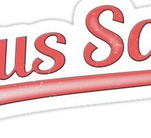 Jesus Saves - Distressed Baseball Sticker