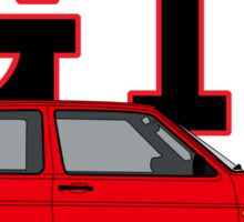 Golf MK2 GTI (Big Bumper, Tornado Red) Sticker