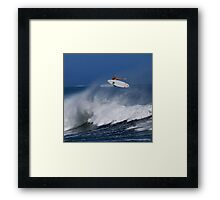 Surfer at Ala Moana Bowls Framed Print