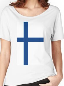 Finland Flag Women's Relaxed Fit T-Shirt