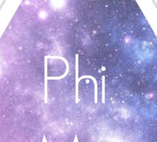 Phi Mu Galaxy Sticker