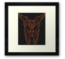 Shard Helm [ ORANGE ] Framed Print