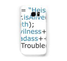 Breaking bad - code Samsung Galaxy Case/Skin