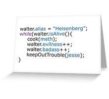 Breaking bad - code Greeting Card