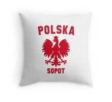 POLSKA SOPOT Throw Pillow