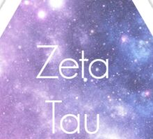 Zeta Tau Alpha Galaxy Sticker
