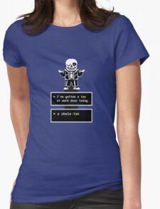 Undertale - Sans Skeleton - Undertale  Womens Fitted T-Shirt