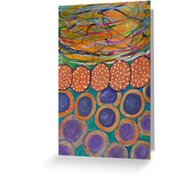 Colorful Swirl with Chain and Circles Greeting Card