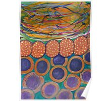 Colorful Swirl with Chain and Circles Poster