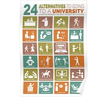 24 Alternatives to Going to a University Poster