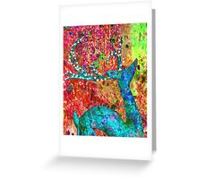 The abstract reindeer Greeting Card