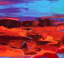Canyon at Dusk - Art by Elise Palmigiani Sticker